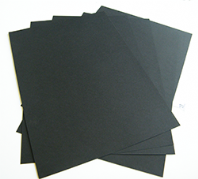 A2 Black Card Smooth & Thick Art Craft Design 350gsm/430mic - 25 Sheets